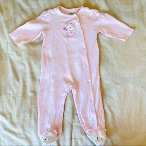 Little Me Darling Footed Sleep + Play Suit 9M Girl